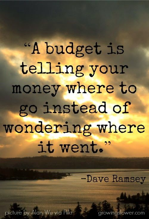 Dave Ramsey budget quote