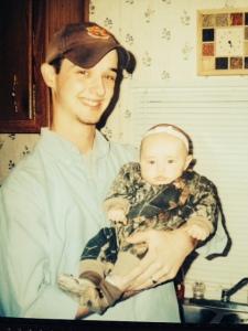 dad holding riley