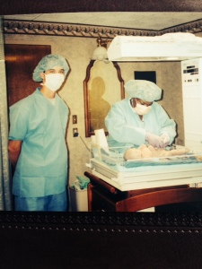 father in the delivery room