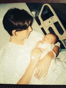 mom at hospital