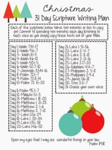 scripture list for dec
