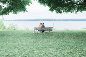 wedding picture by the water