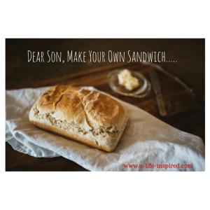 Dear Son go make your own sandwich