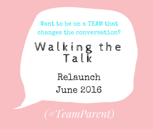 Walking the Talk relaunch team